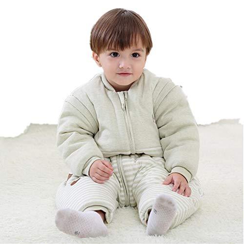 (Baby Sleeping Bag 100% Soft Wool Sleepsuit Warm Comfortable with Feets Infant Sleepsack(Green XL(37.4-41.3in)))