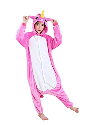 Tonwhar Unisex Adult Pajamas Costume Cosplay Homewear Lounge Wear (S(Height:150cm-159cm), Rose Pegasus)