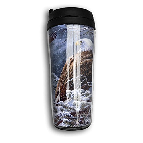 Stainless Steel Eagles Thermos (Winter Eagle Picture Travel Mug Coffee Thermos Stainless Steel Flask Water Bottle)