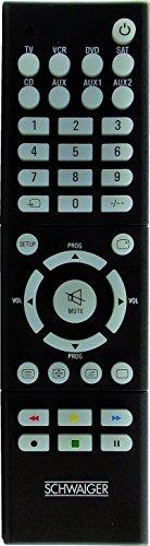 Schwaiger 8-in-1 vorprogrammiert Universal Fernbedienung schwarz