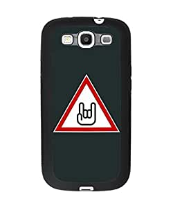 Cool Heavy Metal Samsung Galaxy S3 Plastic and TPU Durable Phone Case Cover(Laser Technology)