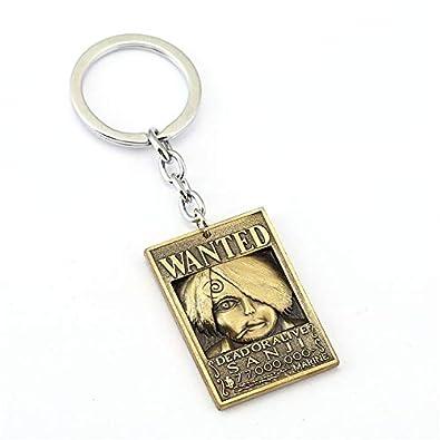 Amazon.com: Anime One Piece Wanted Warrant Keychain Nami ...