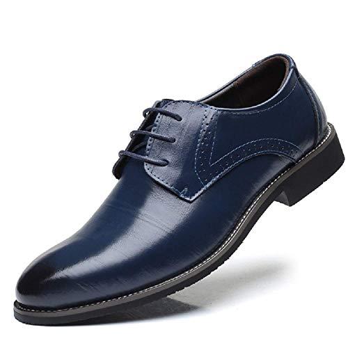 Blau Business 2 Hochzeit LILY999 Herren Oxford Elegant Lederschuhe Anzugschuhe Derby Schnürhalbschuhe Uq5nzw4751