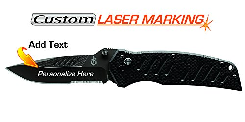 Custom Laser Engraved Gerber Swagger AO Knife 31-001709 (Gerber Swagger Knife Assisted Opening 31 001709)