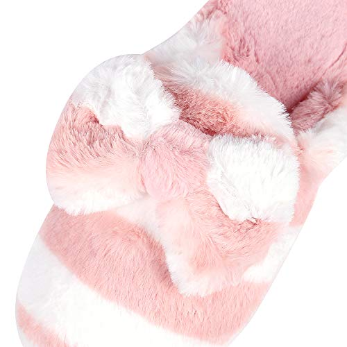 Fuzzy House Pink Home Slippers Soft Shoes Bowknot Foam Winter Memory Slippers Girl Cute Cozy Fluffy Women Slippers 5qaUdTWwT