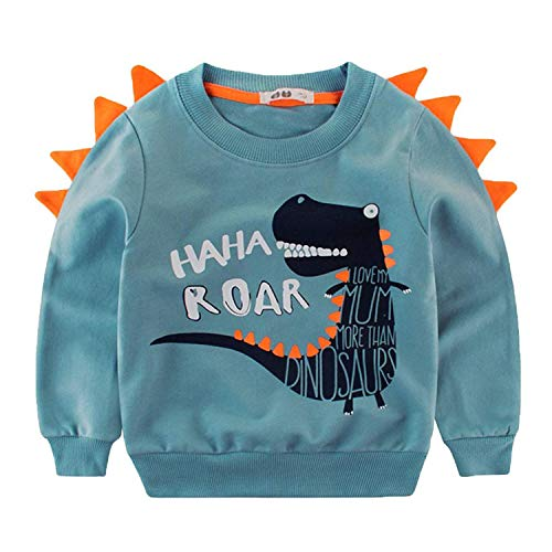 EULLA Tecrok 2t Sweatshirt Boys Dinosaur Pullover Shirt Cotton Top