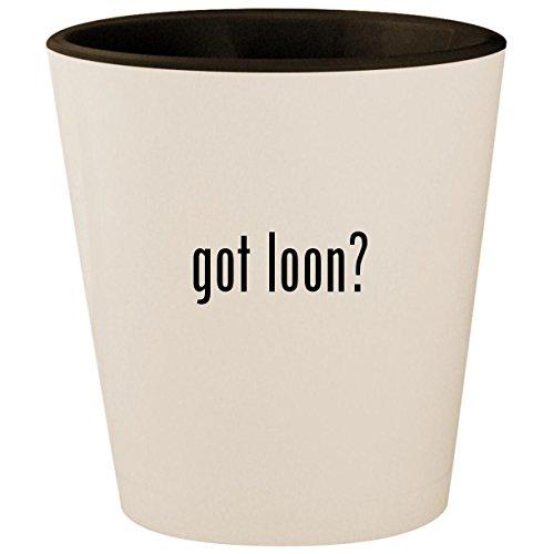 got loon? - White Outer & Black Inner Ceramic 1.5oz Shot -