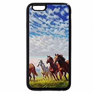 iPhone 6S / iPhone 6 Case (Black) Wild Horses Painting