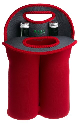 Built Two-Bottle Tote Cranberry Red Built NY 2B-CRN