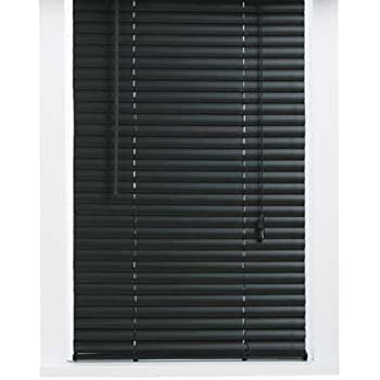 blinds for tall windows modern vinyl inch mini blind black 32x64 amazoncom blinds white 28x64 home kitchen