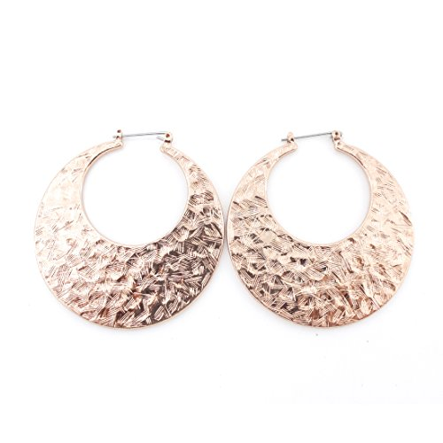 Earrings Heavy Round - Gorgeous Bright Gold Tone Round Plate Ear Cuff Earrings,not Heavy.rose Gold Color