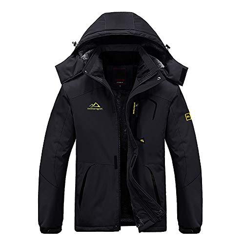 EKLENTSON Mens Coats-Winter Waterproof Jacket Windbreaker Climbing Skiing Jacket Fleece Warm Outerwear Sports Hooded…