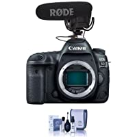 Canon EOS 5D Mark IV DSLR Body - Bundle With Rode Microphones VideoMic Pro R Cardioid Condenser Microphone, Cleaning Kit