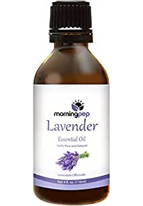 LAVENDER OIL 4 OZ Large Bottle by Morning Pep 100 % Pure And Natural Therapeutic Grade , Undiluted PREMIUM QUALITY Aromatherapy LAVENDER Essential oil (118 ML)