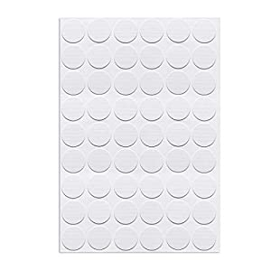 uxcell Self-Adhesive Screw Hole Stickers,1-Table Self-Adhesive Screw Covers Caps Dustproof Sticker 21mm 54 in 1 White Maple Wood