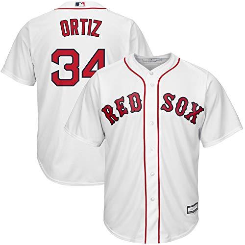 (#34 David Ortiz Boston Red Sox Home Cool Base Player Jersey - White XXL)