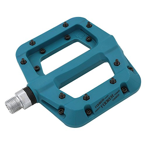 FOOKER MTB Bike Pedal Nylon 3 Bearing Composite 9/29 Mountain Bike Pedals High-Strength Non-Slip Bicycle Pedals Surface for Road BMX MTB Fixie Bikesflat -