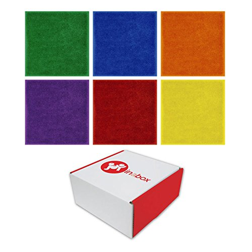 Joy Carpets JG-832 Joy in a Box Carpet Squares, Grade: 8 to Kindergarten, Assorted (Pack of 24) ()