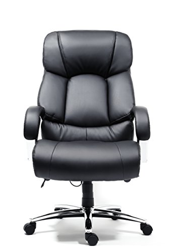 Cheap Office Factor New Big And Tall Black Executive Office Chair Bonded Leat
