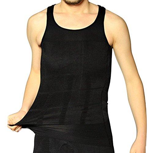 Shop Flash Slenderizing Body Compression Base Layer Thermal Shirt Vest Men's, Black, X-Large