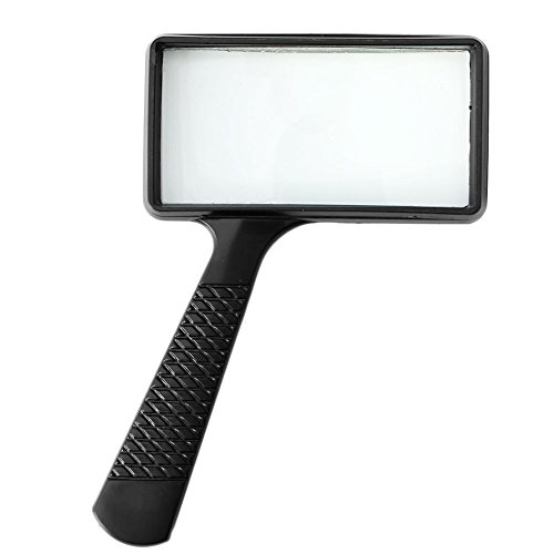 Susada Magnifier Handheld Rectangular 5X Magnifying Glass Loupe for Reading Jewelry