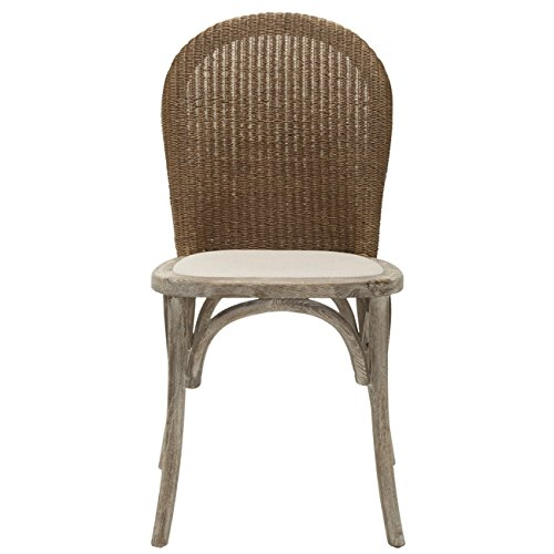Safavieh Mercer Collection Sharon Finish Taupe Side Chairs, Antique Oak, Set of 2 by Safavieh (Image #3)