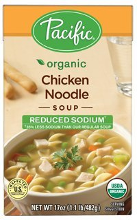 (Pacific Foods, Organic Reduced Sodium Chicken Noodle Soup (Pack of)