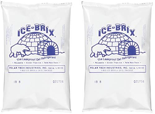 Bucket Tech Ice (Polar Tech IB6 Ice Brix Leakproof Viscous Gel Refrigerant Poly Pack, 4