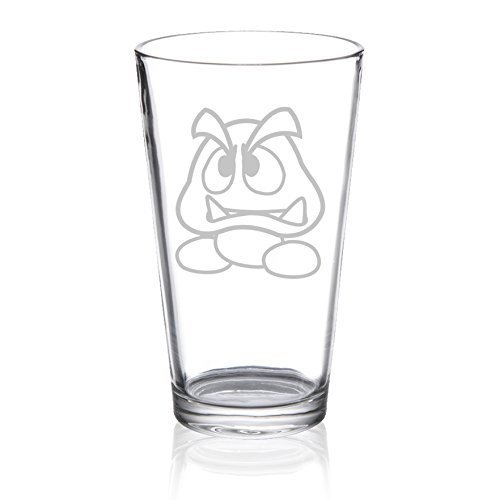 (Super Mario Bros - Goomba - Etched Pint Glass)
