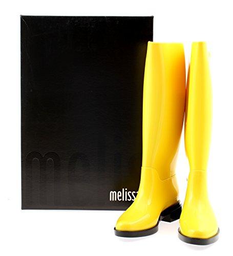 Melissa Dames Lange Regenlaars Geel Zwarte Print