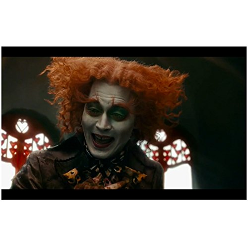 Alice Through the Looking Glass 8x10 Photo Johnny Depp as Mad Hatter Happy Open Mouth Smile No Hat -