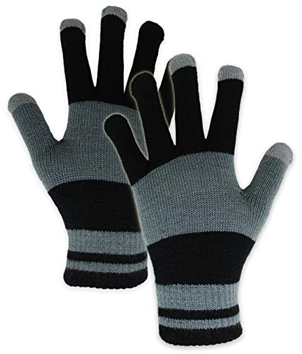 Touchscreen Magic Gloves - Lightweight & Warm Thermal Knit Winter Gloves for Men & Women - Designed for Texting, Driving, Hiking, Running, Cycling and Casual Wear - 3-Finger Touch Screen Technology