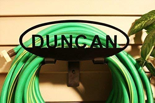 - Personalized Garden Hose Rack - Custom American-Made Steel with Powder Coated Black Finish - Durable, Strong and Handcrafted - A Perfect Gift for Gardening Enthusiasts!