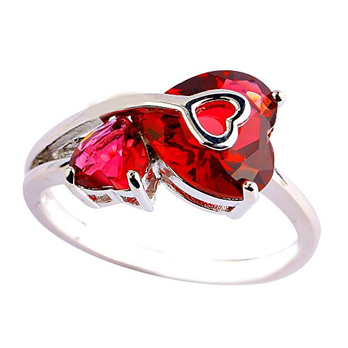 (Empsoul 925 Sterling Silver Natural Fancy Plated 4.25cttw Ruby Spinel Topaz Heart Shaped Wedding Ring)