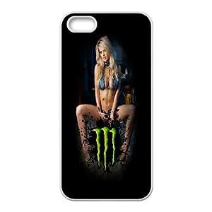 DIY Printed Monster Energy hard plastic case skin cover For iPhone 5, 5S SNQ153190