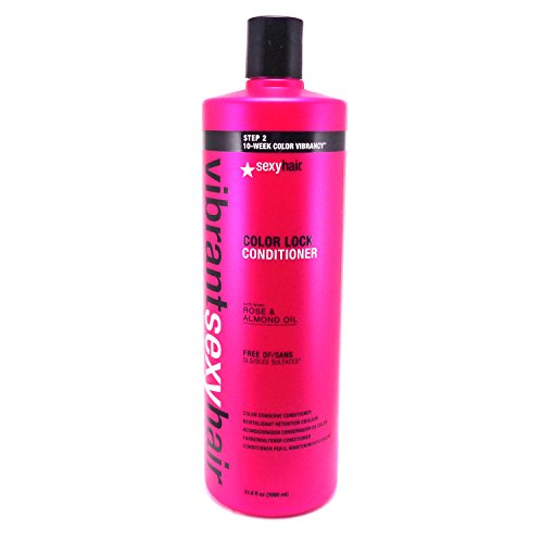 Sexy Hair Vibrant Color Lock Sulfate-Free Conserve Conditioner, 33.8 Ounce