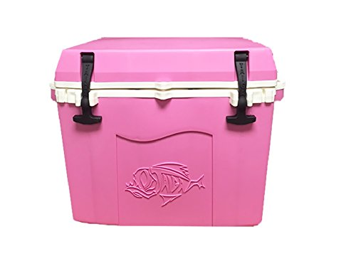 Taiga Coolers Leak Proof 27 Quart Pink Cooler with Heavy R5 Insulation