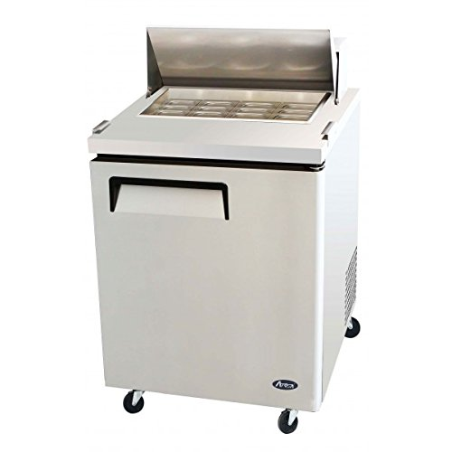 Atosa USA MSF8305 Stainless Steel Mega Top Sandwich/Salad Prep Table 27-Inch One Door Refrigerator