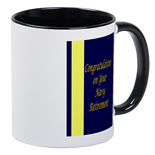 CafePress Navy Retirement Congratulations Mug Unique Coffee Mug, Coffee Cup