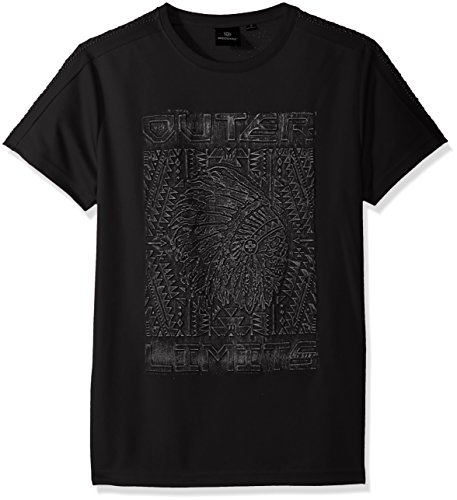 Akademiks Mens Metallic 3D Fashion Tee Shirt