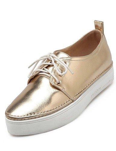 Cn43 Comfort Eu36 Mujer 5 U Oxfords Zapatos Uk8 Negro us10 5 Golden Puntiagudos Zq Oro Rosa Uk3 Plataforma Eu42 Vestido Plata Blanco 5 5 Semicuero De Cn35 Casual Golden us5 xF1RAqI