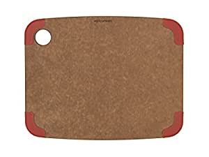 Epicurean Non-Slip Series Cutting Board, 11.5-Inch by 9-Inch, Nutmeg/Red