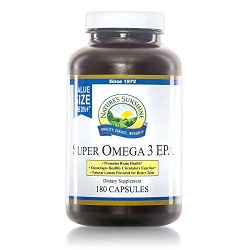 Nature's Sunshine Super Omega-3 EPA, 180 softgel caps
