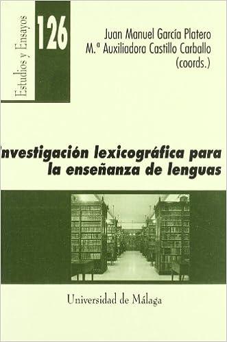 Book INVESTIGACION LEXICOGRAFICA PARA LA ENSEÑANZA DE LENGUAS