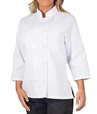 Womens White Classic ¾ Sleeve Chef Coat, XS