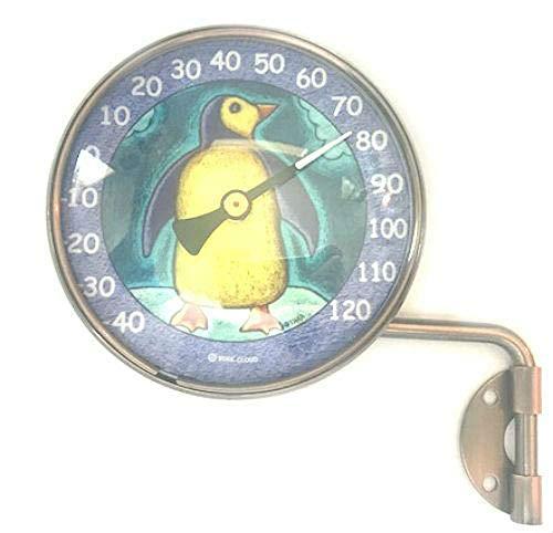 """Penguin Indoor Outdoor Thermometer (4"""" Diameter)"""