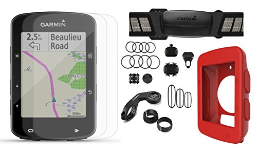 - Garmin Edge 520 Plus (2018 Version) Cycle Bundle | w/PlayBetter Silicone Case & Screen Protectors | Maps/Navigation, Mounts | GPS Bike Computer (Red Case, Speed/Cadence Sensors)