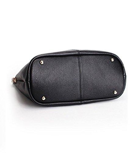 Mother Large Detachable Handbags Teacher�� Capacity Black Leather Bag Bag 7RIwaxIqA