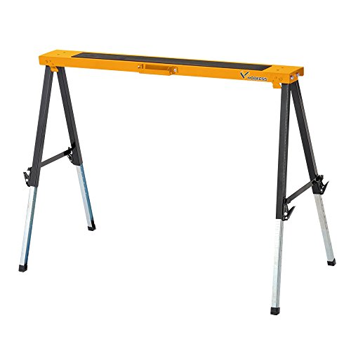(Multi Purpose Steel Sawhorse, Folding Legs Height Adjustable 330 Lbs Single Pack WK-SH032)