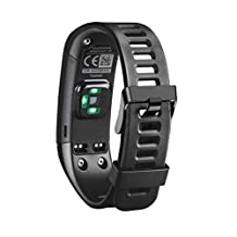 For Garmin Vivosmart HR Replacement Band,Kingfansion Accessories with Metal Clasps Watch Strap/Wristband Silicone for Garmin Activity Tracker (Black)